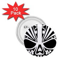 Tribal Sugar Skull 1 75  Buttons (10 Pack)