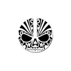 Tribal Sugar Skull Golf Ball Marker (4 Pack)