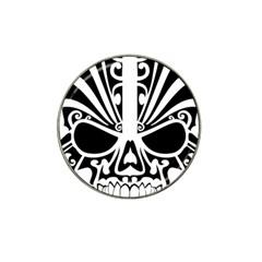 Tribal Sugar Skull Hat Clip Ball Marker