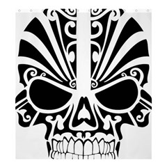 Tribal Sugar Skull Shower Curtain 66  X 72  (large)