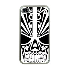 Tribal Sugar Skull Apple Iphone 4 Case (clear)