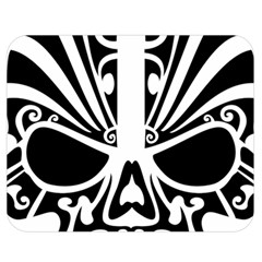 Tribal Sugar Skull Double Sided Flano Blanket (medium)