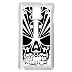 Tribal Sugar Skull Samsung Galaxy Note 4 Case (white)