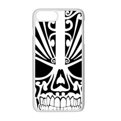 Tribal Sugar Skull Apple Iphone 8 Plus Seamless Case (white) by sherylchapmanphotography