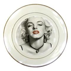 Blonde Bombshell Porcelain Plates