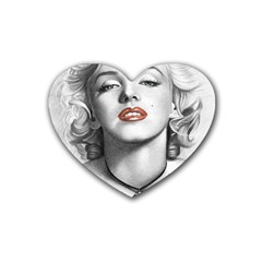 Blonde Bombshell Rubber Coaster (heart)