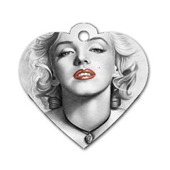 Blonde Bombshell Dog Tag Heart (one Side)
