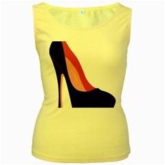 Stiletto  Women s Yellow Tank Top
