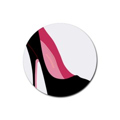 Stiletto  Rubber Coaster (round)
