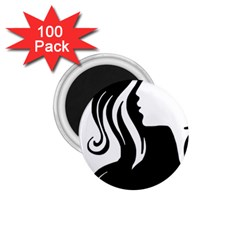 Long Haired Sexy Woman  1 75  Magnets (100 Pack)  by sherylchapmanphotography