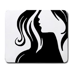 Long Haired Sexy Woman  Large Mousepads