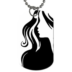 Long Haired Sexy Woman  Dog Tag (two Sides)