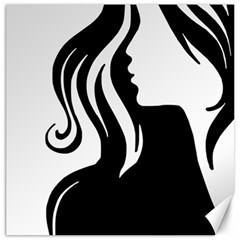 Long Haired Sexy Woman  Canvas 12  X 12