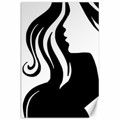 Long Haired Sexy Woman  Canvas 24  X 36