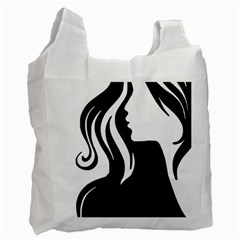 Long Haired Sexy Woman  Recycle Bag (two Side)