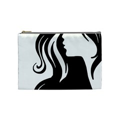Long Haired Sexy Woman  Cosmetic Bag (medium)  by sherylchapmanphotography