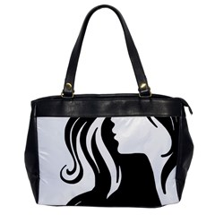 Long Haired Sexy Woman  Office Handbags