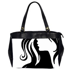 Long Haired Sexy Woman  Office Handbags (2 Sides)