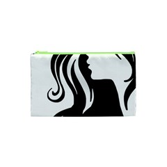 Long Haired Sexy Woman  Cosmetic Bag (xs)