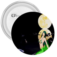 Sexy Mermaid In The Moonlight 3  Buttons