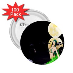 Sexy Mermaid In The Moonlight 2 25  Buttons (100 Pack)