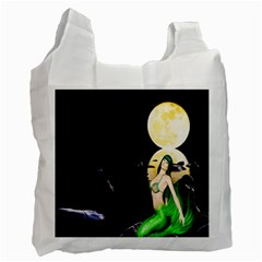 Sexy Mermaid In The Moonlight Recycle Bag (one Side)
