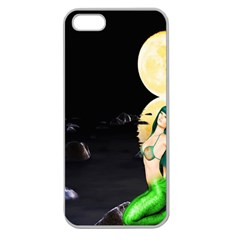Sexy Mermaid In The Moonlight Apple Seamless Iphone 5 Case (clear)