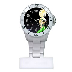 Sexy Mermaid In The Moonlight Plastic Nurses Watch
