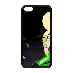 Sexy Mermaid In The Moonlight Apple Iphone 5c Seamless Case (black)