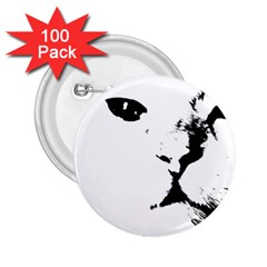 Cat 2 25  Buttons (100 Pack)