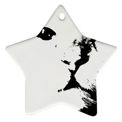 Cat Star Ornament (two Sides)