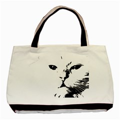 Cat Basic Tote Bag (two Sides)