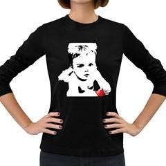 Cupid s Heart Women s Long Sleeve Dark T Shirts