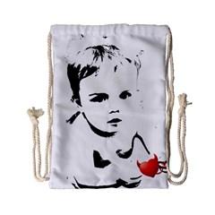 Cupid s Heart Drawstring Bag (small)