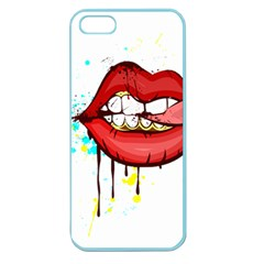 Bit Your Tongue Apple Seamless Iphone 5 Case (color)