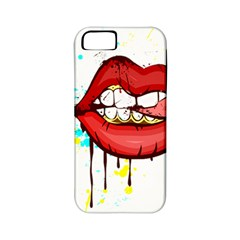 Bit Your Tongue Apple Iphone 5 Classic Hardshell Case (pc+silicone)