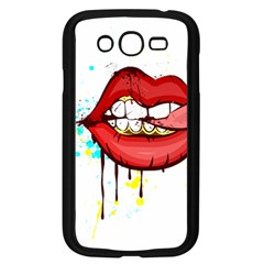 Bit Your Tongue Samsung Galaxy Grand Duos I9082 Case (black) by sherylchapmanphotography