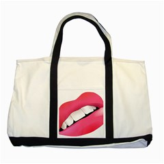 Smile Two Tone Tote Bag