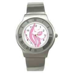 Pinky Stainless Steel Watch