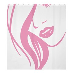 Pinky Shower Curtain 66  X 72  (large)