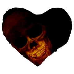 Skull Large 19  Premium Heart Shape Cushions by sherylchapmanphotography