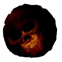 Skull Large 18  Premium Flano Round Cushions