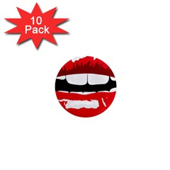 Sexy Mouth  1  Mini Magnet (10 Pack)  by sherylchapmanphotography