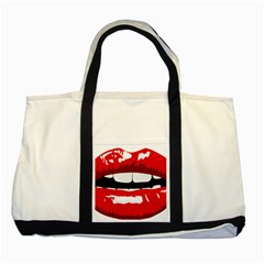 Sexy Mouth  Two Tone Tote Bag