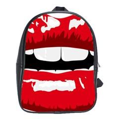 Sexy Mouth  School Bag (xl)