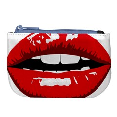 Sexy Mouth  Large Coin Purse by sherylchapmanphotography