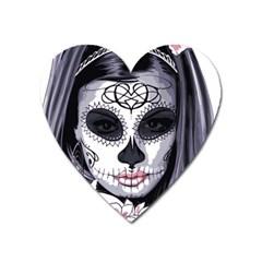 Sugar Skull Heart Magnet