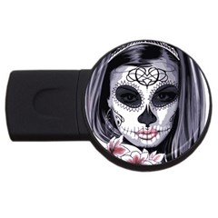 Sugar Skull Usb Flash Drive Round (2 Gb)