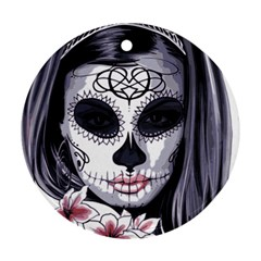 Sugar Skull Round Ornament (two Sides)