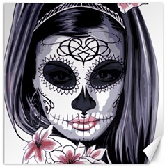 Sugar Skull Canvas 16  X 16
